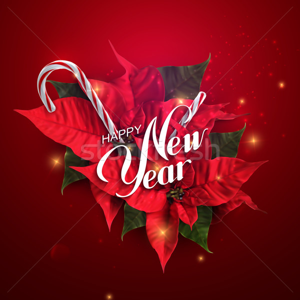 Happy New Year. Vector Holiday Illustration  Stock photo © maximmmmum