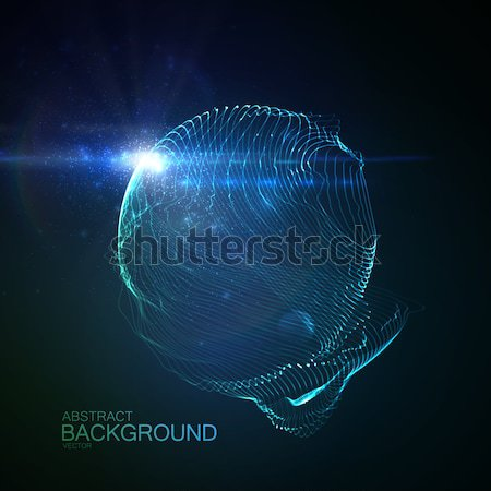 3D illuminated loop shape Stock photo © maximmmmum