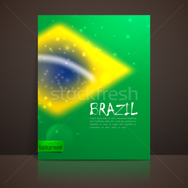 vector blurred background with sparkles in brazil flag concept for design and website background. br Stock photo © maximmmmum