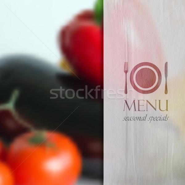 Realista comida diferente legumes pimenta tomates Foto stock © maximmmmum