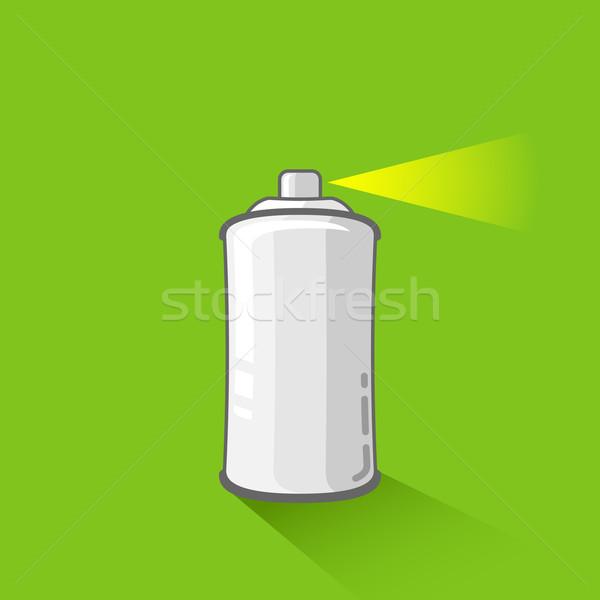 Alüminyum sprey can yeşil aerosol Metal Stok fotoğraf © maximmmmum