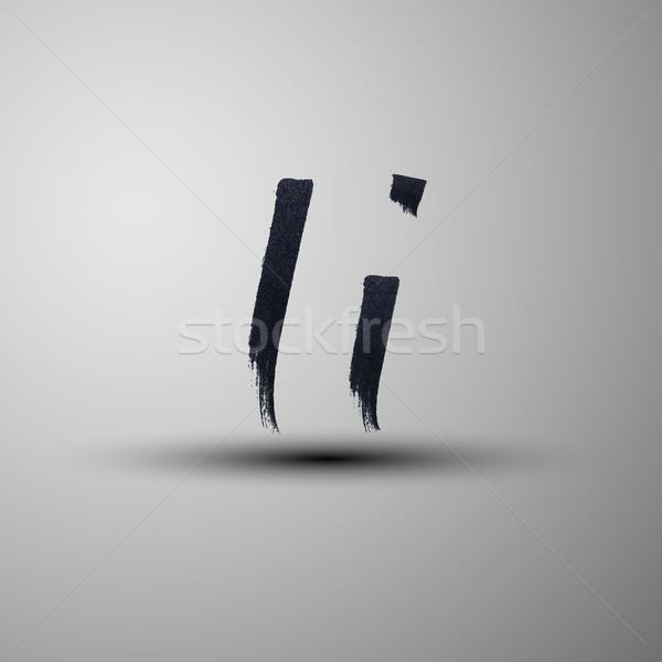 Vetor marcador nosso letra i projeto Foto stock © maximmmmum