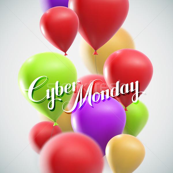 Cyber Monday Sale label Stock photo © maximmmmum