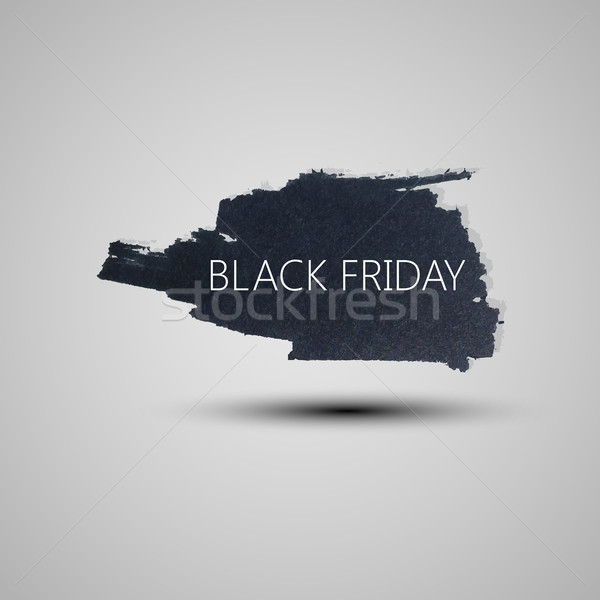 Splash grunge aquarel black friday banner Stockfoto © maximmmmum
