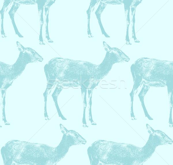 vector  illustration of an antelope. seamless animal pattern Stock photo © maximmmmum