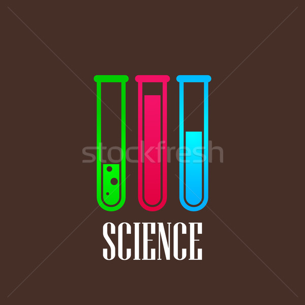 illustration with laboratory equipment icon. science concept Stock photo © maximmmmum