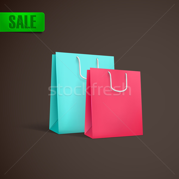 colorful shopping bags mock-up Stock photo © maximmmmum