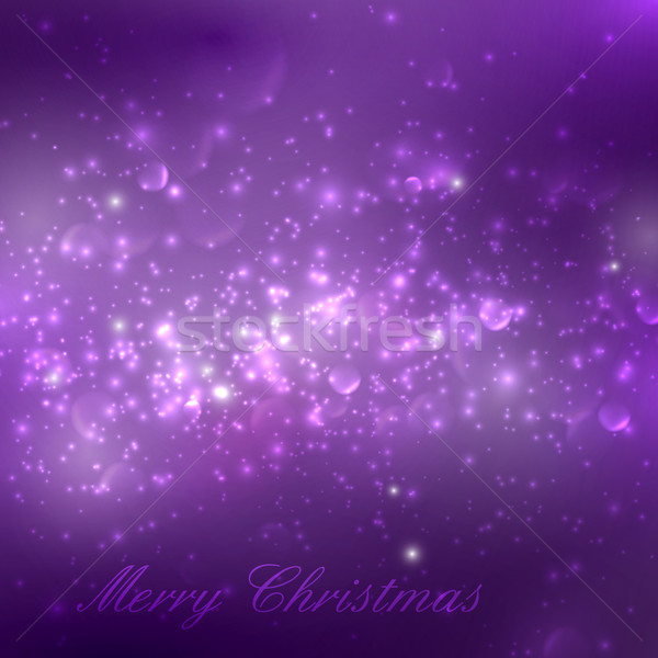 Merry Christmas. shiny purple holiday background with lights, sp Stock photo © maximmmmum