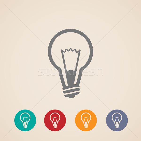 vector light bulb icons  Stock photo © maximmmmum