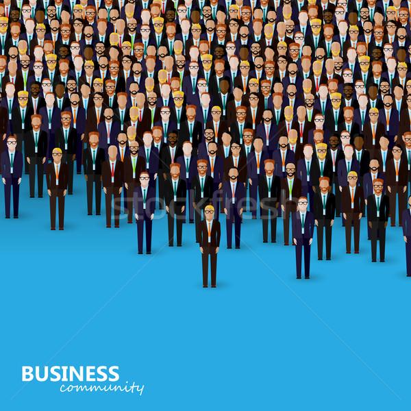 Vetor ilustração negócio política comunidade multidão Foto stock © maximmmmum