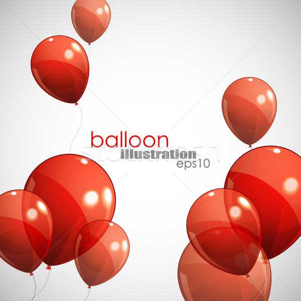 background with red balloons Stock photo © maximmmmum