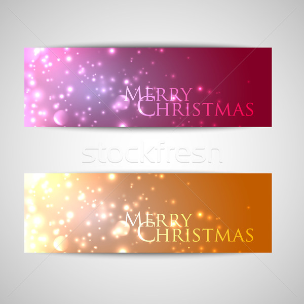 set of elegant Christmas banners with sparkles  Stock photo © maximmmmum