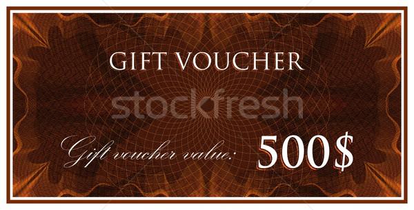 Vektor sablon terv ajándék utalvány bizonyítvány Stock fotó © maximmmmum