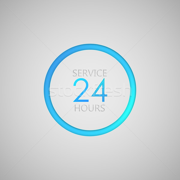 open 24 hours a day icon. service sign Stock photo © maximmmmum