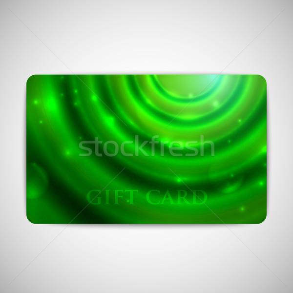 Verde tarjeta de regalo diseno marco tarjeta patrón Foto stock © maximmmmum