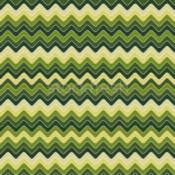 Zikzak model dizayn yeşil kumaş Stok fotoğraf © maximmmmum