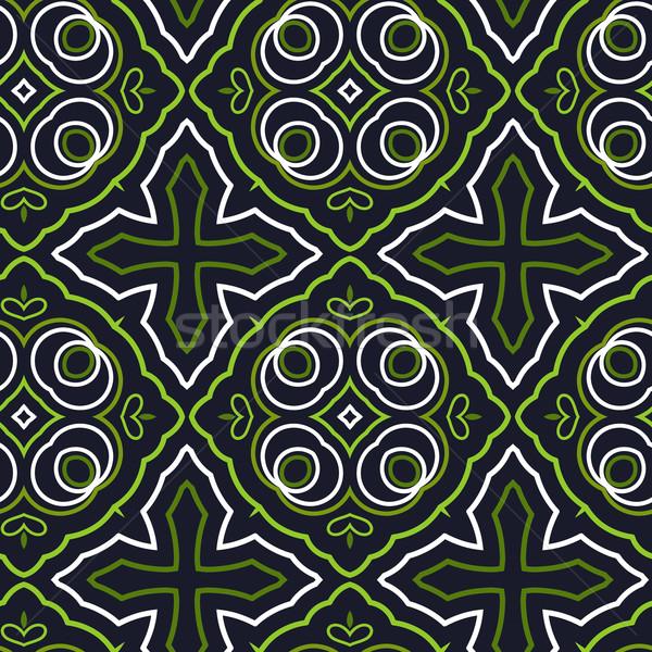 Seamless Floral Ethnic Pattern Stock photo © maximmmmum