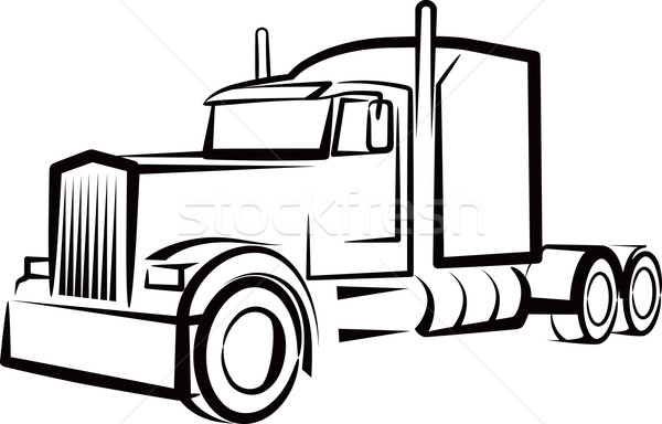simple illustration with a truck Stock photo © maximmmmum
