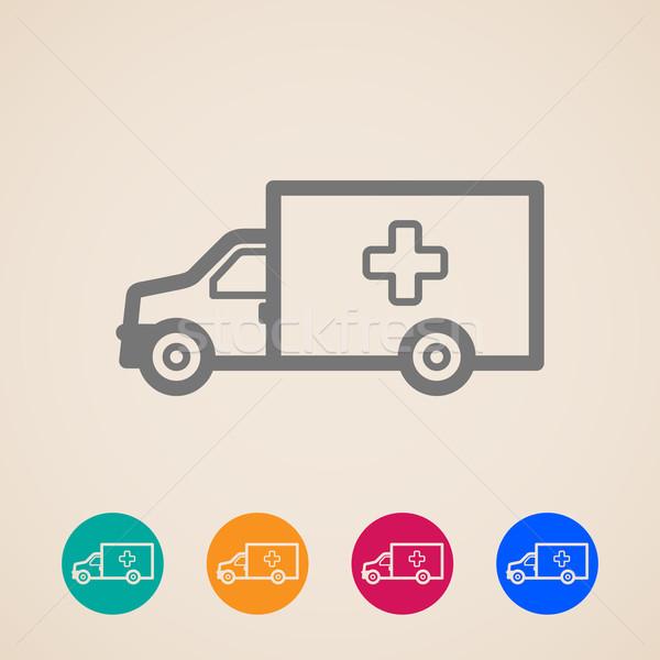 vector ambulance car icons  Stock photo © maximmmmum