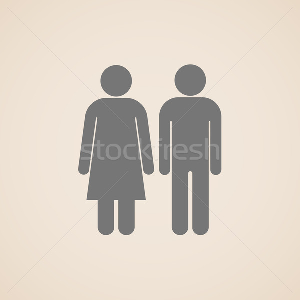 vector signs of man and woman restroom  Stock photo © maximmmmum
