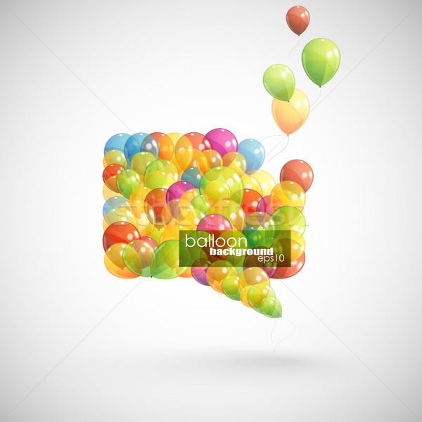 Fumetto battenti palloncini design spazio parlare Foto d'archivio © maximmmmum