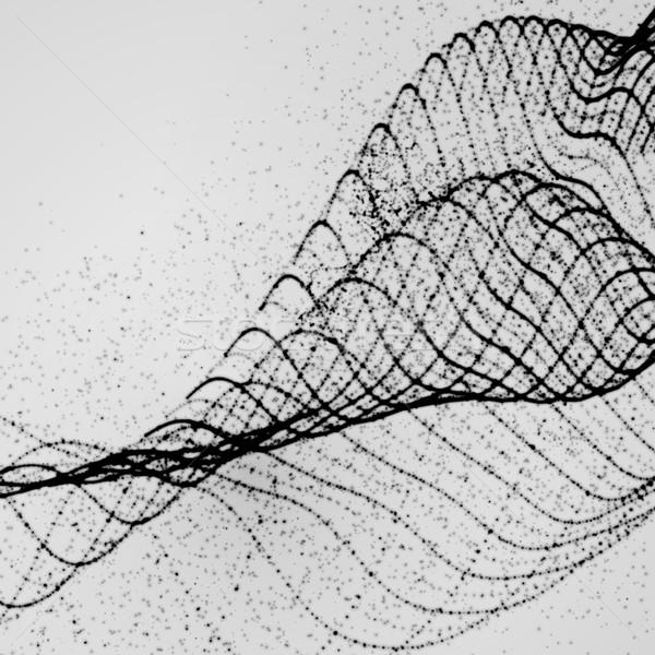 3D tinta stilizált digitális hullám absztrakt Stock fotó © maximmmmum