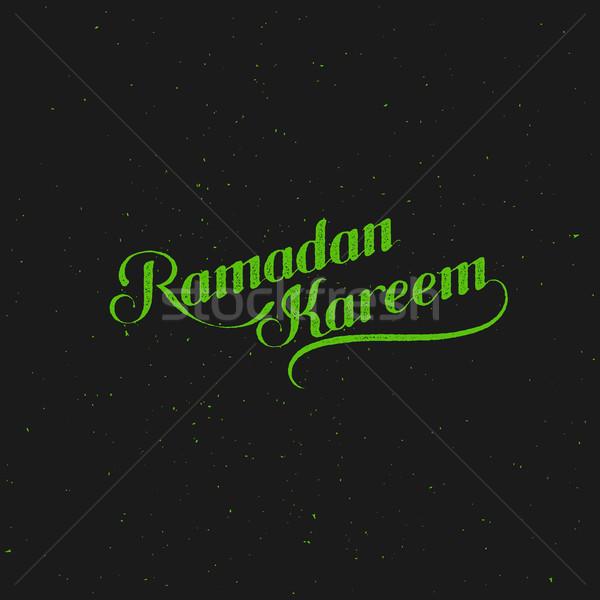 Ramadan retro label vector typografisch Stockfoto © maximmmmum