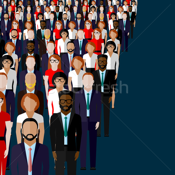 vector flat illustration of business or politics community Stock photo © maximmmmum