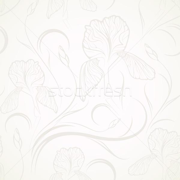 シームレス フローラル 花 抽象的な 壁紙 工場 ストックフォト © maximmmmum