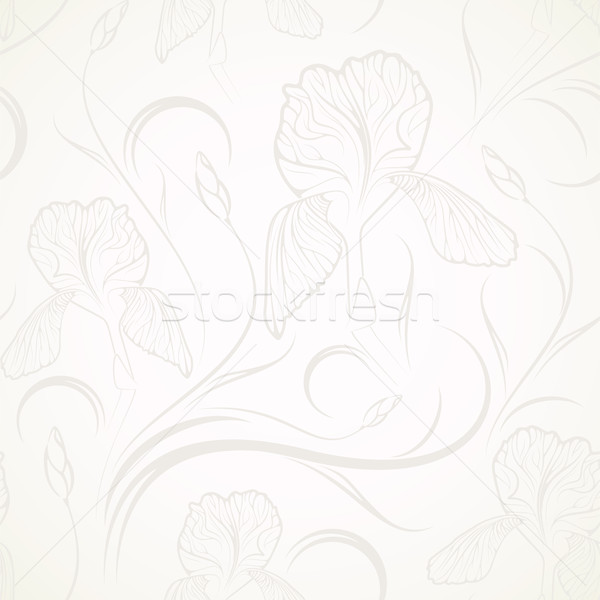 Stockfoto: Naadloos · bloem · abstract · behang · plant
