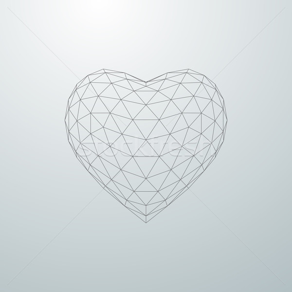 3D heart shape Stock photo © maximmmmum