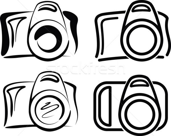 камер набор камеры иконки фото электронных Сток-фото © maximmmmum