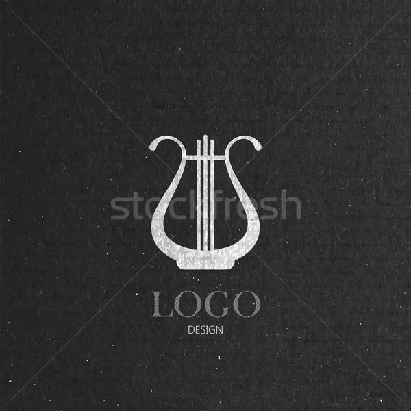 Stock fotó: Hárfa · karton · textúra · zene · logoterv · művészet