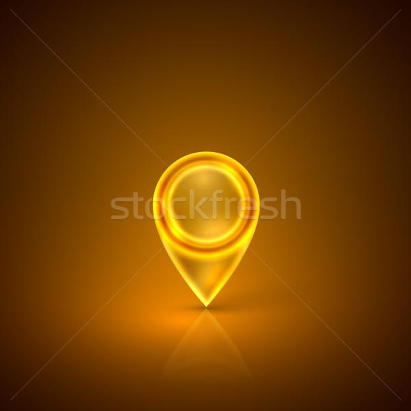 golden map marker  Stock photo © maximmmmum