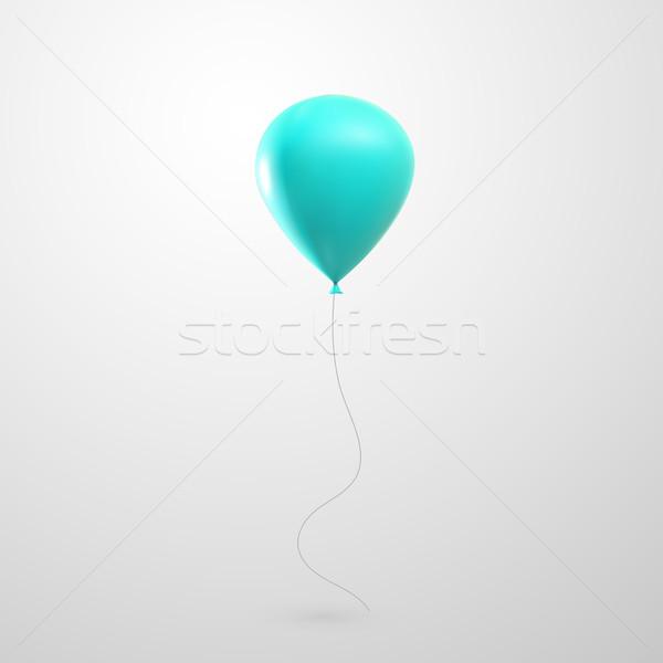 illustration of flying glossy balloon Stock photo © maximmmmum