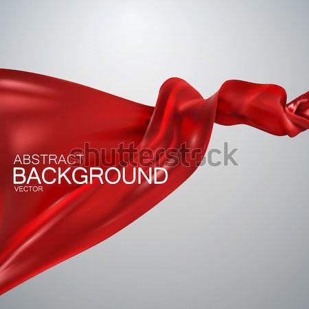 Rosso seta tessuto satinato vettore tessili Foto d'archivio © maximmmmum