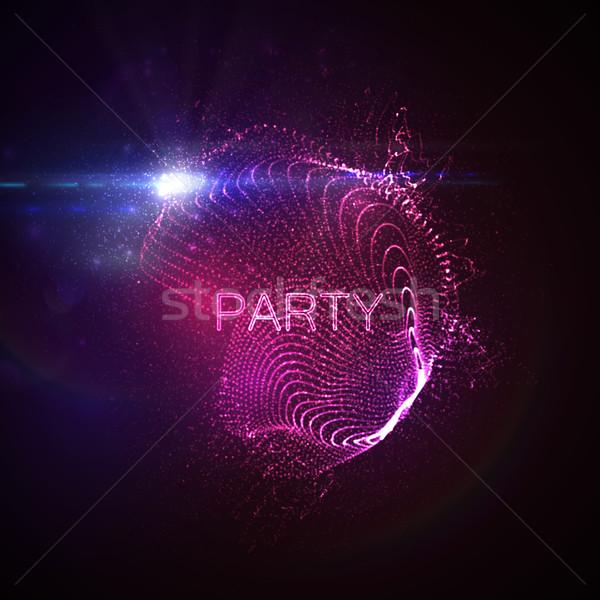Parti neon 3D Stok fotoğraf © maximmmmum