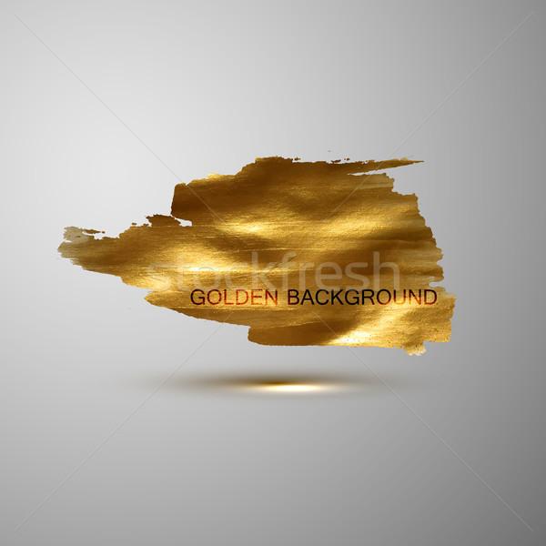 Stock fotó: Arany · festék · folt · szalag · vektor · arany