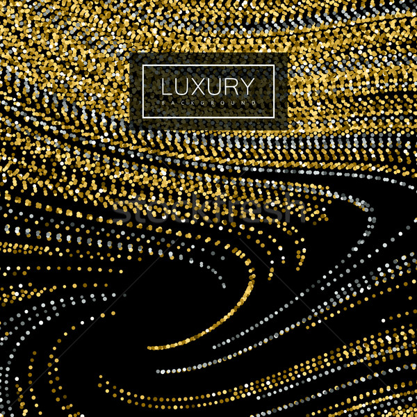 Luxury background with shiny golden glitters Stock photo © maximmmmum