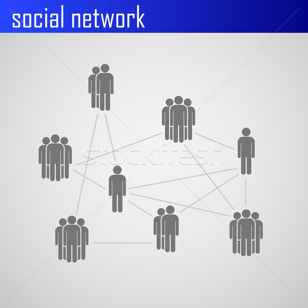 Infographic elements for web or print design with social network icons  Stock photo © maximmmmum