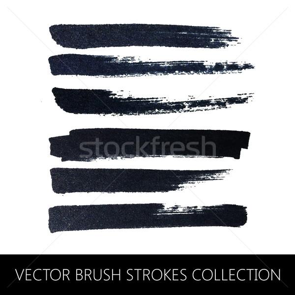 vector collection of brush strokes Stock photo © maximmmmum