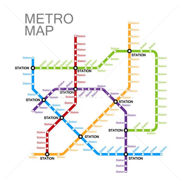 metro or subway map design Stock photo © maximmmmum