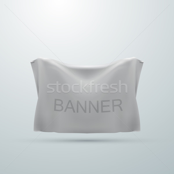 Branco têxtil bandeira abstrato fundo Foto stock © maximmmmum