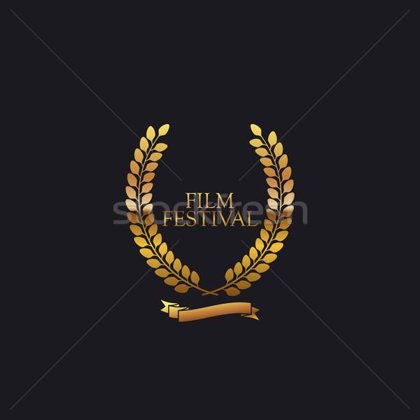 Film festival attribution signe or couronne Photo stock © maximmmmum