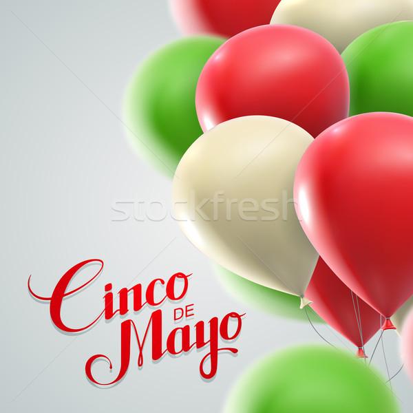 Cinco de Mayo vector illustration. Stock photo © maximmmmum