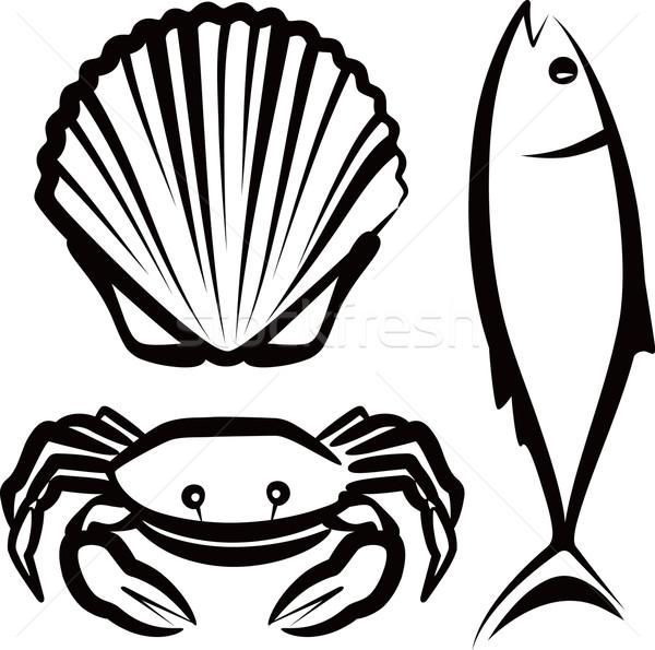 простой иллюстрация морепродуктов природы морем океана Сток-фото © maximmmmum