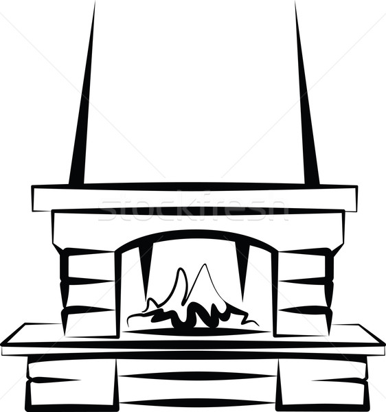 fireplace Stock photo © maximmmmum