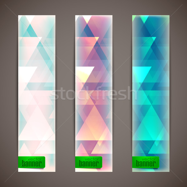 set of faded banners with triangles  Stock photo © maximmmmum