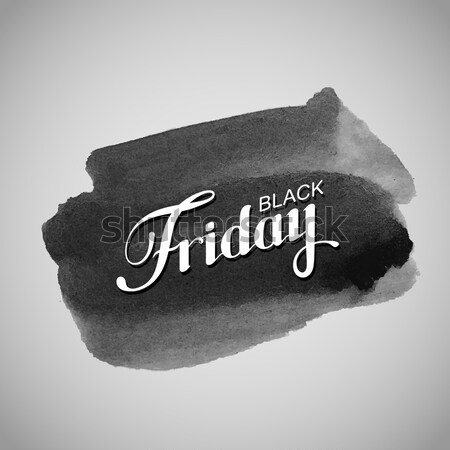 Siyah suluboya leke eski buruşuk kâğıt Stok fotoğraf © maximmmmum