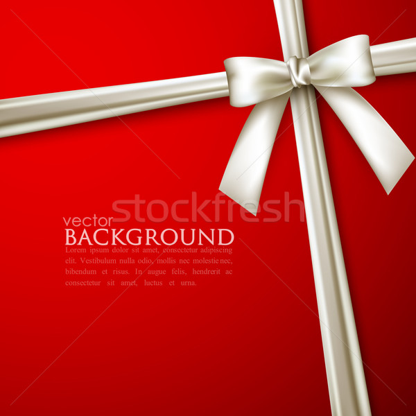 elegant red background with white bow  Stock photo © maximmmmum